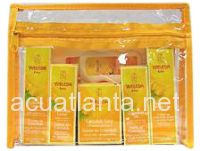 This essential travel and gift kit contains Travel Sizes of Calendula Baby Cream, Diaper Care, Calendula Baby Lotion, Calendula Baby Oil and Calendula Baby Soap.