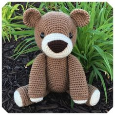 Gratis haakpatronen van Jess Huff | Een Mooi Gebaar Amigurumi Toys, Crochet Animals, Pet Toys, Free Crochet, Crochet Patterns, Teddy Bear, Cute, Crafts, Ravelry