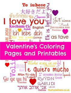 Free printable Valentine's Day coloring pages and printables | NurtureStore :: inspiration for kids