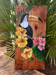 Discover recipes, home ideas, style inspiration and other ideas to try. Action Painting, Painting On Wood, Dream Catcher Art, Art Watercolor, Tropical Art, Chalk Art, Animal Paintings, Art Drawings, Art Projects
