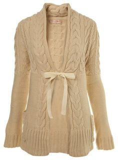 MADE TO ORDER - A beautiful handmade knitted long winter coat / jacket / cardiga