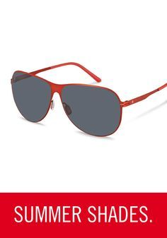 20b77ccfa1 This bright pair of aviator-style Rodenstock sunglasses will keep you  looking and feeling cool in the upcoming seasons.