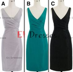 V-neck in different color sheath homecoming dress ,evening dress ,short prom dress