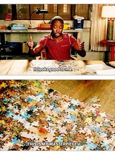 """""""Puzzling.... Winston is a puzzling... Looks good to me. This is my masterpiece!""""  Winston- my favorite."""
