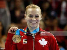 July 13 - Gymnastics Artistic - Women's All Around.  Ellie Black of Canada stands on the podium after winning the gold medal in the women's all around artistic gymnastics final on Day 3 of the Toronto 2015 Pan Am Games on July 13, 2015 in Toronto, Canada.