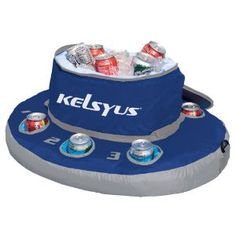 floating cooler... perfect for aquatic beer olympics.