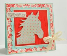 horse birthday cards | My sweet Miss Relle is turning 9 tomorrow, and since she adores horses ...