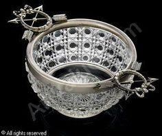 FABERGÉ Karl (Carl), 1846-1920 (Russia) Title : A Bowl Date : ca 1890 Category : Silver Medium : : Silver-mounted cut-glass