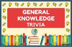 Challenge your brain with our extensive list of General Knowledge Trivia questions & answers quiz. Serves the purpose for the perfect interactive General. General Knowledge Quiz Questions, Trivia Questions And Answers, Pop Culture Trivia, Question And Answer, This Or That Questions, Quiz With Answers, Senior Activities, Fb Page, Quizzes