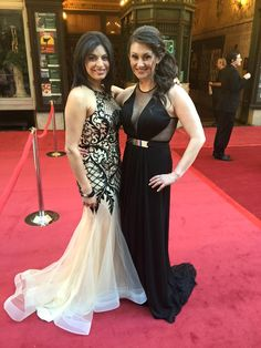 Fan Photo | Sarina Fazan of ABC Action News rocking our Nina Canacci Artful Lace Halter Gown down the red carpet! Nina Canacci 4101