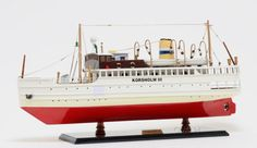 Korsholm-III-Ferry-Boat-S-S-Stockholm-24-Wooden-Model-Steam-Ship-New