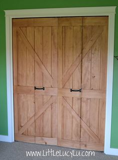 From Bi-Fold to Barn Doors - perfect when there is not room for a track door