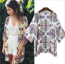 2015 verano estilo de la camisa nuevos tops mujeres blusas impresas camisetas casual camisas blusas femininas kimono de la rebeca más tamaño(China (Mainland))