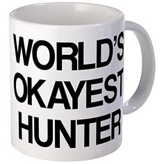 CafePress  Worlds Okayest Hunter  Coffee Mug Novelty Coffee Cup -- Click image to review more details.