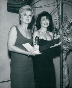 Angela Lansbury and Anne Bancroft 1962 Golden Globes