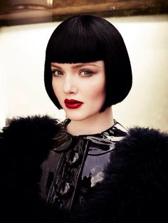 """(Holliday grainger) """"this bob haircut is giving me the desire to cut off my hair, Sleek and Chic. Bob Haircut With Bangs, Short Bob Haircuts, Haircut Styles, Bob Bangs, Blunt Bangs, Haircut Short, Hair Bangs, My Hairstyle, Updo"""