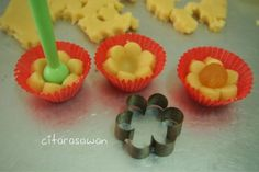 Biskut Tart Nenas Bunga - step by step ~ Recipes Today