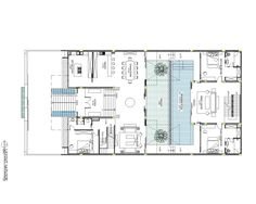 In response to limited size, compare to huge program, we try to elaborate and combine two courtyard spaces, which arrange vertically and super impose each ot...