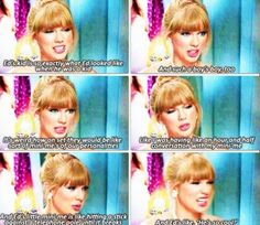 Tay talking about their mini-me's in the 'Everything Has Changed' video. OMG ED AWH IM DYING