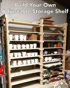 Check out how I built my storage shelf for all my ceramics and make your own! About $100 in materials and a day's work! by clayby.lisa
