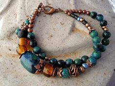 Healing and Serenity / Energy Bracelet / Ethnic by Syrena56, $39.00