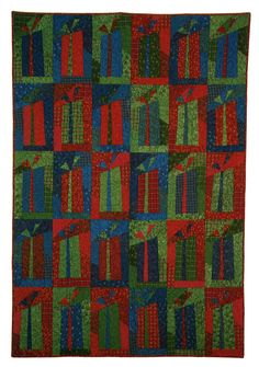 """Shopping's done! Gift's wrapped !"" by Sandy Gervais as seen at Quilt Inspiration"