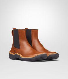 BOTTEGA VENETA DARK LEATHER CALF VOORTREKKING STRIPE ANKLE BOOT Boots and ankle boots U fp