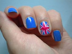 Union Jack Accent Nail by Kiki_White from Nail Art Gallery