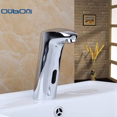 New Arrival Bathroom Basin Sink Faucet Water Mixer Tap Touch-Free Infrared Basin Tap Automatic Sensor Faucet  &Tap Deck Mounted #Affiliate