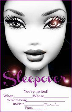 BARBIE sleepover invitation for tweens or teens
