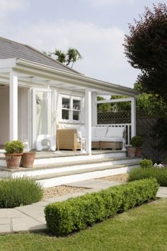 Love this idea for our back patio...all white.