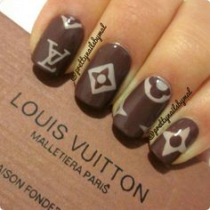 inspired nails design Vuitton