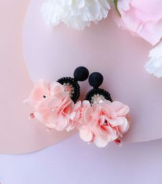 Beaded Crystal Floral Tassels Earrings - Lux Store DR