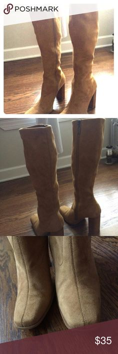 Beige fuax suede knee high boots Like new,  in great condition Candie's Shoes Heeled Boots