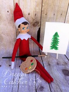ITH Artist Palette Feltie Embroidery Design Holiday Prop | Dreamcatcher Designs