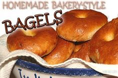 Easy Picture-by-Picture recipe for bakery style BAGELS. Perfect bagels made in your home kitchen; boiled and baked, giving texture and flavor like the corner bakery!