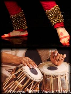 ghunghroo and tabla. Divine dialogue of percussive feet and hands, in time to the heart of Oneness.