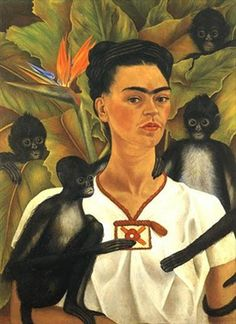 Frida Kahlo Self-portrait with monkeys, The Jacques and Natasha Gelman Collection of Mexican Art © 2016 Banco de Mexico Diego Rivera Frida Kahlo Museums Trust, Mexico DF Frida E Diego, Diego Rivera Frida Kahlo, Frida Art, Frida Kahlo Exhibit, Old Posters, Tomie Ohtake, Kahlo Paintings, Portrait Paintings, Mexican Artists