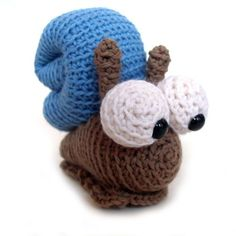 Cute Crocheted Snail. Would be a great gift for a little kid!