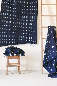 Traditional Indigo Dyed Mudcloth Tapestry (Online Exclusive) | Urban Outfitters [$69 + 25% off]