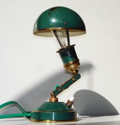 Art Deco Bauhaus bras table lamp. France, 1920's.