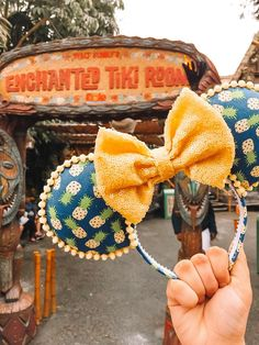 Your place to buy and sell all things handmade Diy Disney Ears, Disney Mickey Ears, Disney Diy, Disney Crafts, Minnie Mouse, Disney Stuff, Mouse Ears Headband, Tiki Room, Disney Inspired