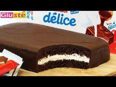 Le délicieux Kinder Délice à faire chez vous : recette de gâteau géant – La recette