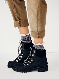 Free People Icon Hiker Boot at Free People Clothing Boutique in black