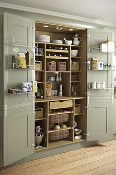 Magnificent Traditional Kitchen by Yorkshire And The Humber Kitchen Designers & Remodelers Holme Design The post 10 Kitchen Pantry Ideas for Your Home appeared first on Interior Designs . Kitchen Pantry Design, New Kitchen, Kitchen Ideas, Kitchen Hacks, Awesome Kitchen, Smart Kitchen, Hidden Kitchen, Kitchen Country, Compact Kitchen