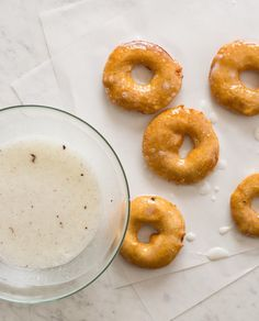 Apple Fritter Rings glazed