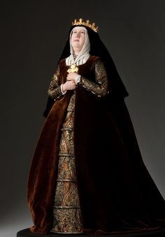 Queen Isabella 1478 - Figure from the Museum of Ventura County collection.  Historical Figures Collection by George Stuart.