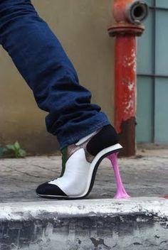 Tennis shoe- gum heels! Haha.
