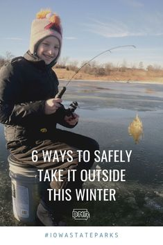 Go ice fishing, hiking and more to safely enjoy the outdoors this winter and holiday season   Iowa DNR Ice Fishing, Trout Fishing, Iowa State, State Parks, Fun Winter Activities, Animal Tracks, Viewing Wildlife, State Forest, County Park
