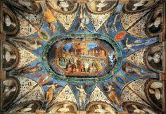 Villa Imperiale  a Pesaro. Soffitto con Francesco Maria  della Rovere